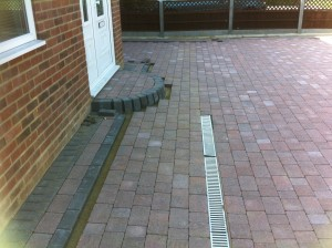 High Curb Step - Block Paving