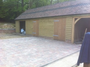 Block Paving Courtyard Ashdown Forest